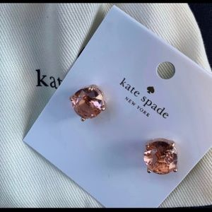 Kate Spade small gumdrop studs in rose gold